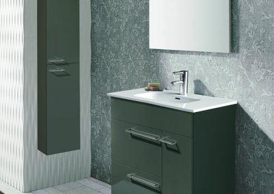 Mueble 80 + lavabo cerámico + espejo + luminaria led 359 €